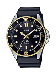 commercial Casio Men's Watch, Stainless Steel, Quartz Resin, Black, Leisure Watch 25.6 Inspired by Divers (Model:… casio dive watch