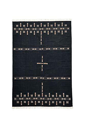 House Doctor Teppich Mila, schwarz, 300 x 200 cm