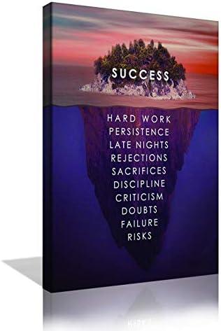 Inspirational Motivation Success Canvas Wall Art Success Island Pictures Prints Entrepreneur product image