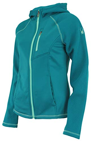 Spyder Women's Alayna Full Zip Sweater Hoodie, Swell X-Large