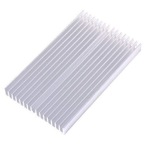 100 * 60 * 10mm Aluminium Kühlkörper DIY Kühlergrillform Kühlkörper Chip Argentate Kühler Kühlrippenmodul für IC LED Leistungstransistor
