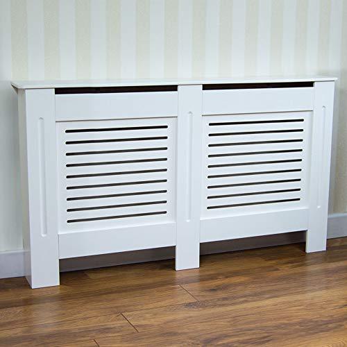 Vida Designs Milton Radiator Cover Modern White Painted MDF Cabinet, Medium