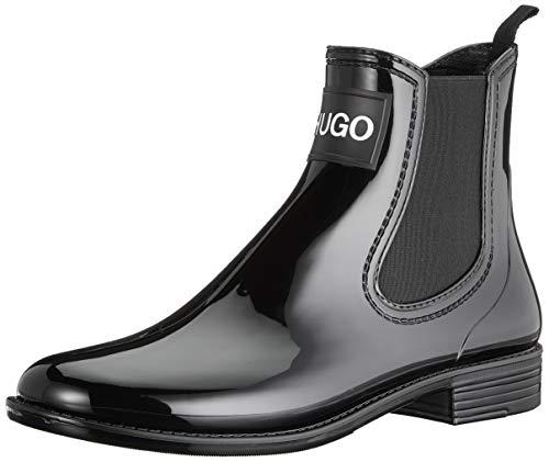 HUGO Nolita Rain Bootie, Damen Chelsea Boots, Schwarz (Black 001), 41 EU (7 UK)