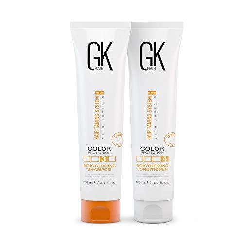 Global Keratin GK Hair Moisturizing Shampoo & Conditioner 100ml Sets For Colour Danni Secchi Crespi Ricci Solfato di Parabene Organico Gratuito Uso Quotidiano