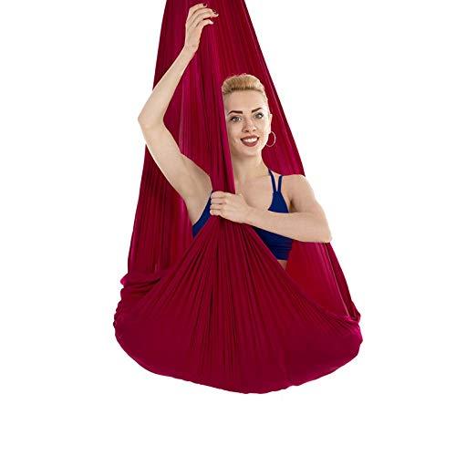 Viktion Authentische 4m*2.8m Ultra Starke Antigravity Yoga Tuch Aerial Yoga Yoga Schaukel Swing Aerial Yoga Hängematte (Dunkel Rot)