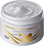Vitamins Keratin Hair Mask Deep Conditioner - Ultra Protein Conditioning Repair Treatment for Thick Dry Damaged or Color Treated Curly Wavy and Straight Coarse Hair