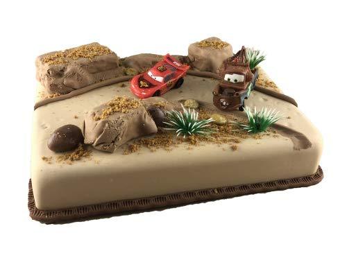 Cake Company Tortendekoration Cars mit Hauptdarsteller Lightning McQueen | Tortendeko Kindergeburtstag & Geburtstag | Motivtorte Cars