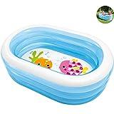 YANGSANJIN Piscinas inflables Blow Up Kiddie Pool, Piscinas inflables para niños Interiores y Exteriores, Piscinas inflables sobre el Suelo ovaladas