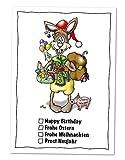 10 Postkarten Grußkarte zu Ostern Universalhase, lustige Ostergrüße vom Osterhase und Wünschen für das ganze Jahr (Ostern, Geburtstag, Weihnachten, Neujahr)
