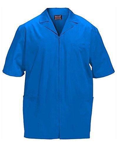 CHEROKEE Workwear Scrubs - Chamarra con Cierre Frontal para Hombre, Royal, Medium