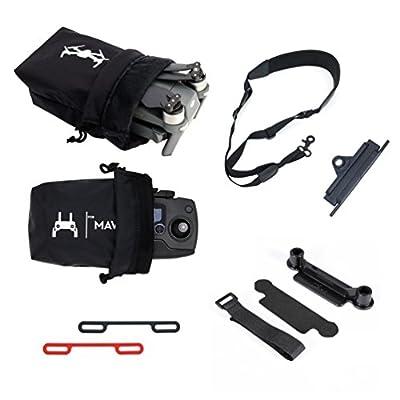 Penivo Thumbstick Protector Clip + Propeller Clip+ Lanyard Buckle + Neck Strap + Waterproof Storage bag For DJI Mavic Pro