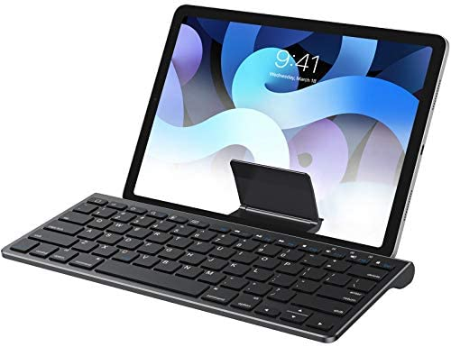 OMOTON Keyboard Compatible with iPad(Sliding Stand), Wireless Bluetooth Keyboard for iPad Air 4, iPad 10.2(8th/ 7th Gen), and More[Stand NOT for iPad Pro 12.9], Black