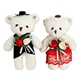 Sealive Bride and Groom Bear, 4.7' Valentines Day Bear Stocking Stuffers Couple...