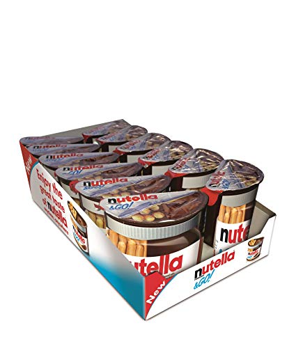 Nutella & GO! Hazelnut Spread with Cocoa and Crispy breadsticks 48g (Pack of 12)