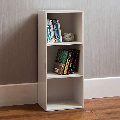 Vida Designs Oxford mit 3Ebenen, Bücherregal, Regal, Holz, Weiß, Schrank, Büro, Wohnzimmer