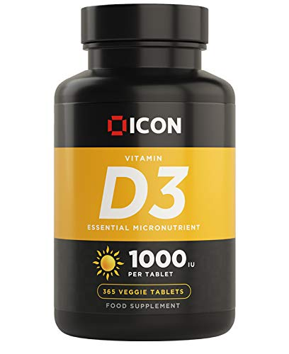 Vitamin D Tablets 1000iu, 365 Easy to Swallow Micro Tablets | One a Day | Vegetarian | Control Your Daily Vitamin D3 Dosage