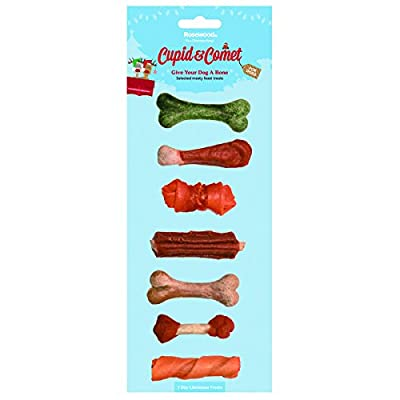 Rosewood Cupid and Comet The Seven Days of Christmas Dog Treats,
