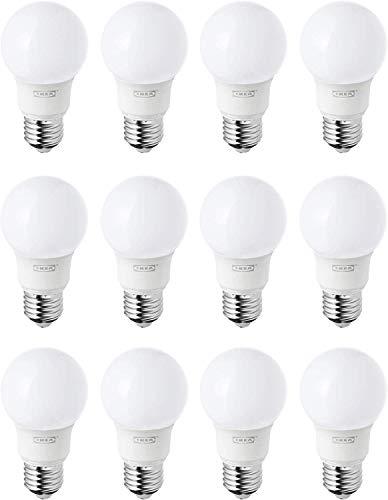 IKEA RYET E27/ES 400 lm warmweiße LED-Glühbirnen, 12 Stück