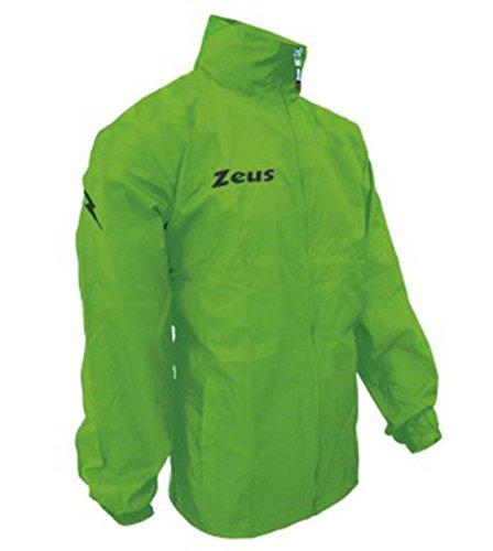 K-way Rain Corsa Sport Uomo Pioggia Running jogging Allenamento Relax Calcio Calcetto Impermeabile Scuola Sport (Verde Fluo, XXL)