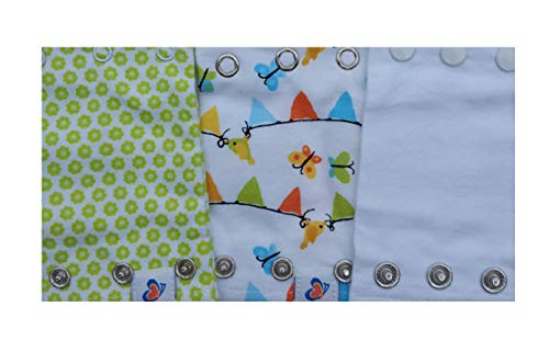 Baby Bodysuit Extenders, Neutral Colors, Set of 3 Different Size Snaps