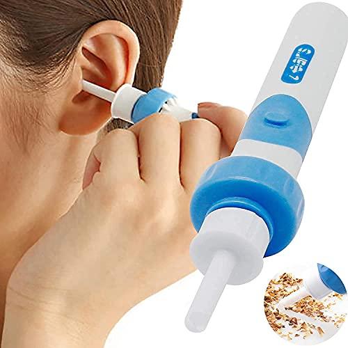 Ohrenreiniger, Ohrwachsentferner Elektrische, Sicherer Ohrenschmalz Entferner Ear Wax Cleaner Mit 2 Entfernbaren Soft Silikon Aufsatzen für Kleinkinder, Jugendliche Erwachsene, Baby