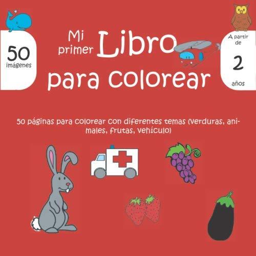 Mi primer libro para colorear: Libro de colorear para niños (niños y niñas) a partir de 2 años / Aprende a colorear sin desbordarse