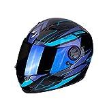 SCORPION Casque moto EXO-490 NOVA Black-Blue, Noir/Bleu, L