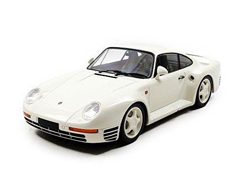 Minichamps- Porsche 959 1987 155066202 - Coche en Miniatura, Color Blanco a Escala 1:18