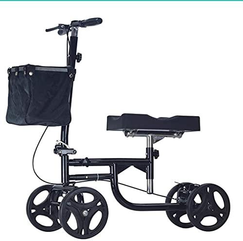 Rollator Walker Movilidad Ayuda para caminar para adultos Mobility Mobility Mobility Ayudas para caminar, Walker de la rodilla Scooter dirigible para la pierna rota, Pie, Lesiones en el tobillo - Rodi
