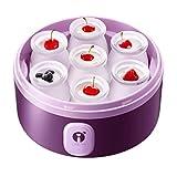 BJH Máquina de Yogur Digital con 7 frascos - Máquina de Acero Inoxidable/Envases de Vidrio Yogur casero Fresco y Saludable