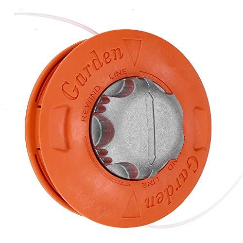 Focket Testina per Trimmer, Alluminio Universale Pratica Indossa pozzo per Erba Testina per decespugliatore Duable Testina per decespugliatore Strimmer Tosaerba Accessori per Giardino ECC(Arancione)