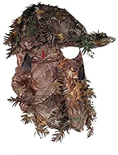 Realtree Xtra 3D Leafy Camouflage Hunting Hat   Camo Hunting Cap with Front Face Mask Technology (OSFM~56-61cm)