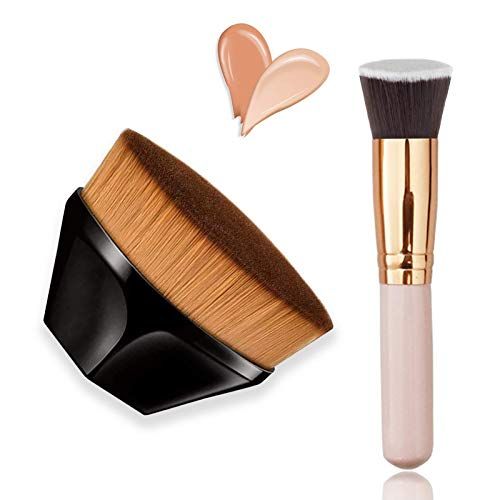 Sunwuun Foundation Pinsel Make Up Pinsel Blütenblattförmige Foundation Pinsel für flüssige Puderpinsel Makellose Bürste Einfache Bedienung Nahtlose Make up Pinsel loose powder brush