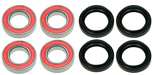 Factory Spec, (2) KIT-WB14, Front OR Rear Wheel Bearing & Seal Kit 2002 for Yamaha Grizzly 660 4x4 YFM660FW
