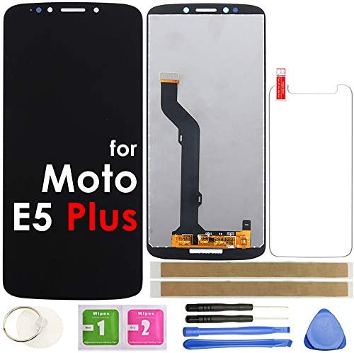 "E5 Play LCD Screen Replacement Touch Display Digitizer Assembly 5.2"" (Black) for Motorola Moto E5 Play XT1921-1 XT1921-2 XT1921-3 XT1921-5 XT1921-6 XT1921-7 / Moto E5 Cruise"