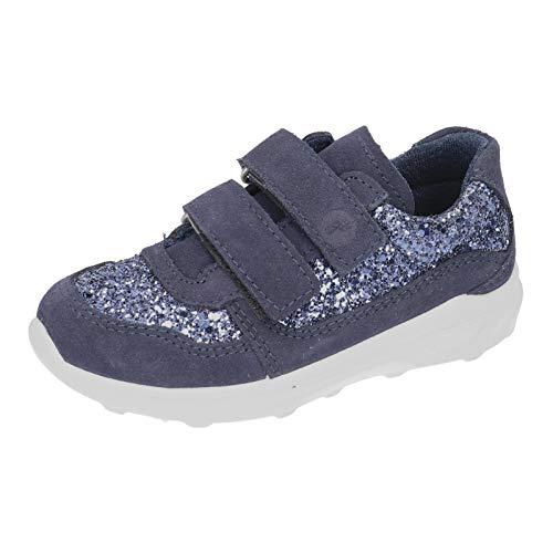 RICOSTA Kinder Low-Top Sneaker Nona, Weite: Mittel (WMS), verspielt detailreich Freizeit Halbschuh sportschuh Klettschuh,Nautic,32 EU / 13 Child UK