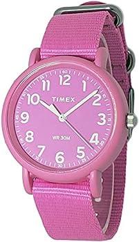 Timex Analog Plastic Pink Nylon Strap Women's Watch