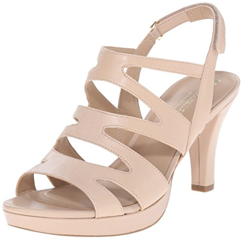 Naturalizer Women's Pressley Platform Dress Sandal, Taupe, 8 M US