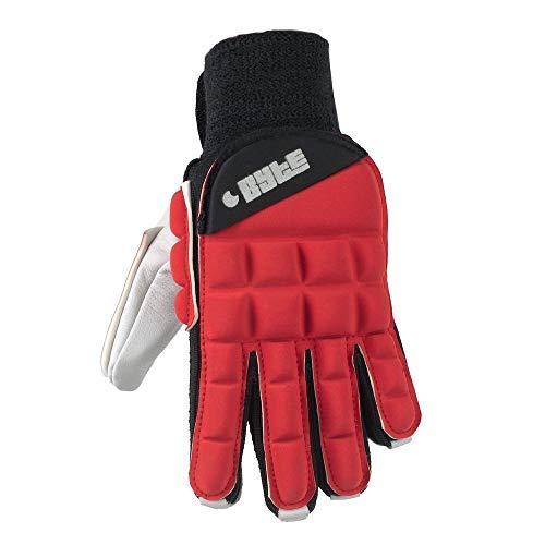 Byte Club Feldhockey-Handschuh, rechte Hand, Rot, rot, EXTRA SMALL
