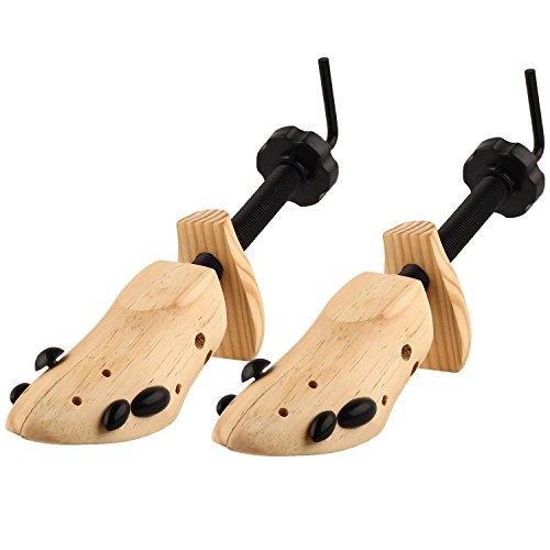 Twshiny 2X Regolabile Scarpe di Legno dell'albero Barelle espansori per Lo Stretching Signore e Scarpe Uomo