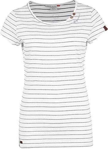 Ragwear T-Shirt Damen T-Shirt Mete 2011-10028 Weiss White 7000, Größe:L