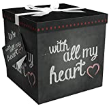 Gift Box 12x12 Amrita Heart Pops Up in Seconds Comes with Decorative Ribbon...