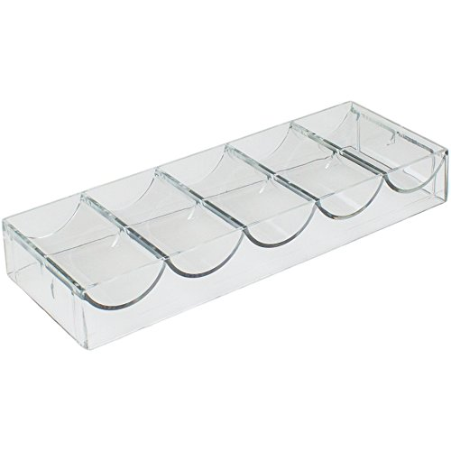 Brybelly Clear Acrylic Chip Rack - Holds 100 Chips