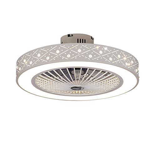 Deckenventilator Mit Beleuchtung LED 220V Einstellbare Windgeschwindigkeit Dimmbare Fernbedienung 32W Moderne Blume Lampe für Schlafzimmer Büro (Ananasperlen)