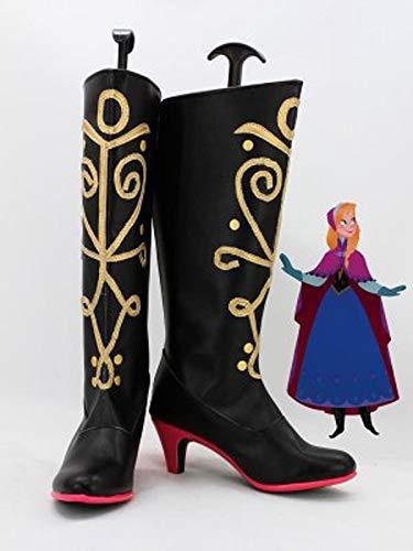 Mujeres adultas nias princesa Elsa Anna Cosplay botas zapatos mujeres Halloween carnaval Cosplay Prop hecho a medida 37