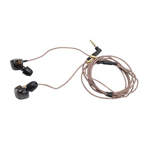 KZ FBA_4330330199 Beteran ATE -ATE Dynamic Balanced Armature IEMS In Ear HIFI Monitors DJ Studio Stereo Music Earphones Headphone Earbuds For Mobile Phone iPhone Samsung MP3 MP4 Music Player no Mic (Balck)