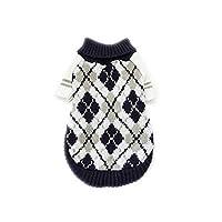 春と秋の冬のペットセーターテディファッション菱形英国風犬服外国貿易卸売猫服-DS003A-S