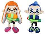 Little Buddy Set2-146768 Splatoon Inkling Plush, Girl Orange & Boy Blue (Pack of 2)