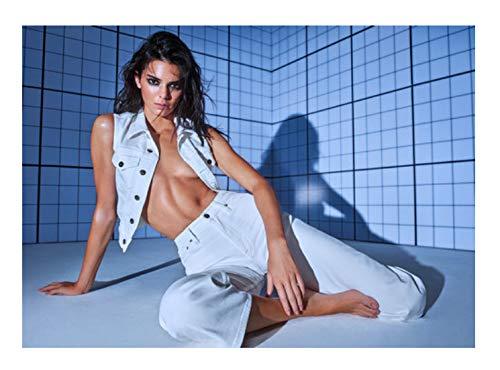 LGXINGLIyidian Modell Mode Leinwand Malerei Kardashian Kendall Jenner Kleid Sex Kleid Gesellschaft Lady Unterwäsche Königin Mädchen Wandkunst Poster Kp54 40X50Cm