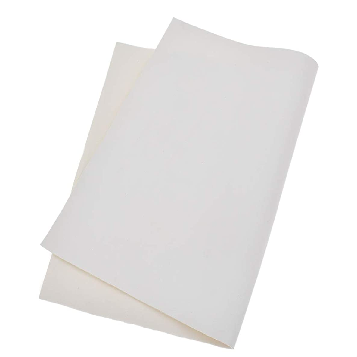 Kesheng A4 Solid Color PU Leather Sheets Fabric for Making Bags Crafts DIY Sewing 11.4 x 8.26 Inch